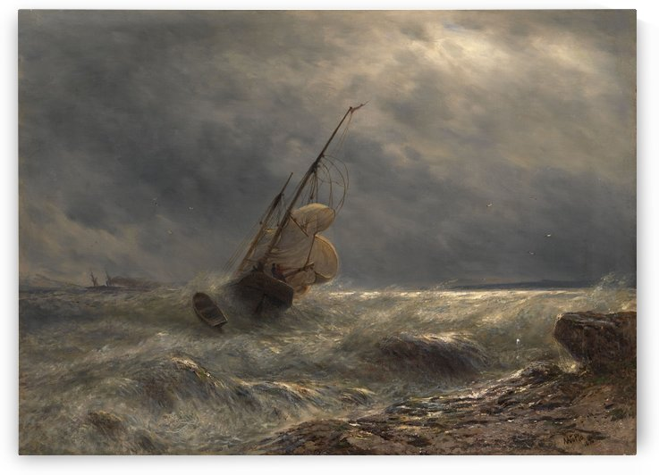Ship in a Storm by Lev Lagorio