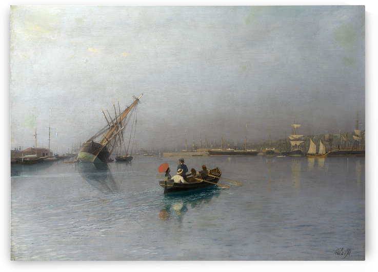 Harbour Scene by Lev Lagorio