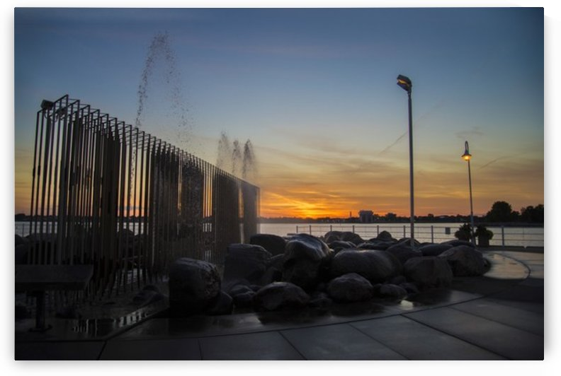 Fountain Sunset by katie tremblay
