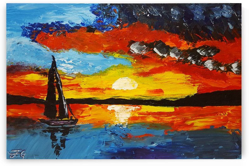 Fiery Sunset by Fatima Geloo