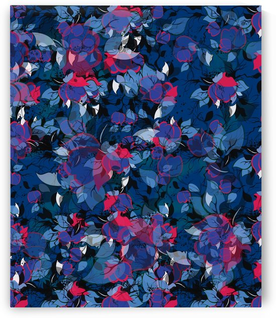 Abstract Floral #3 by Amir Faysal