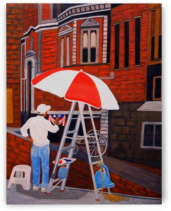 Painting the Past by Bella Visat Artist