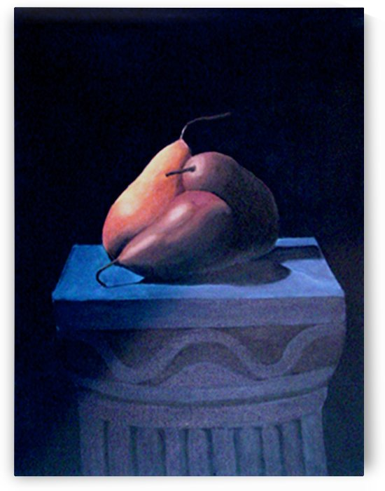 Pears on on a Pedestal by Bella Visat Artist