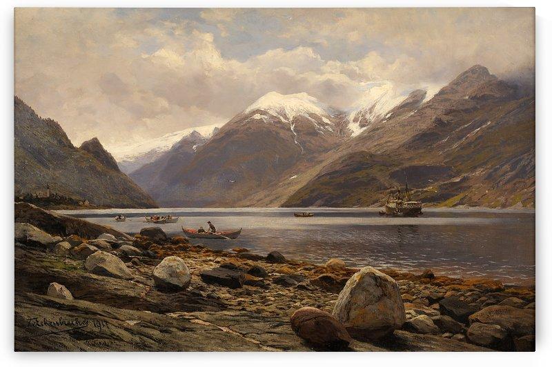 Blick auf den Folgefond-Gletscher am Sorfjord 1917 by Karl Paul Themistokles von Eckenbrecher