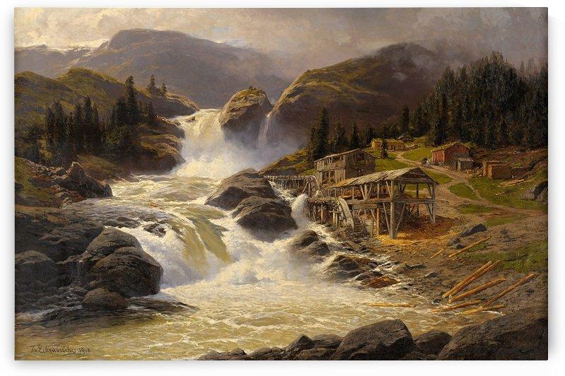 Wasserfall mit Sagemuhle 1908 by Karl Paul Themistokles von Eckenbrecher