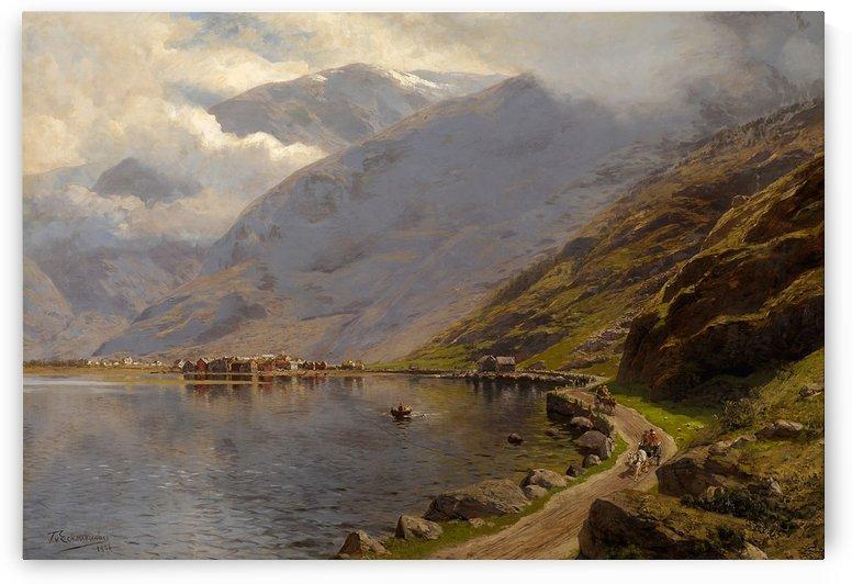 Laerdal Soeren Fjord 1908 by Karl Paul Themistokles von Eckenbrecher