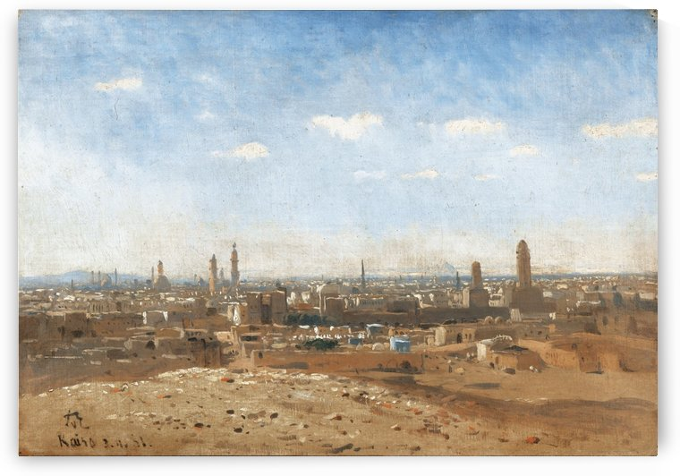 View of Cairo by Karl Paul Themistokles von Eckenbrecher