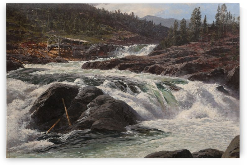 Norwegian Mountain Stream by Karl Paul Themistokles von Eckenbrecher