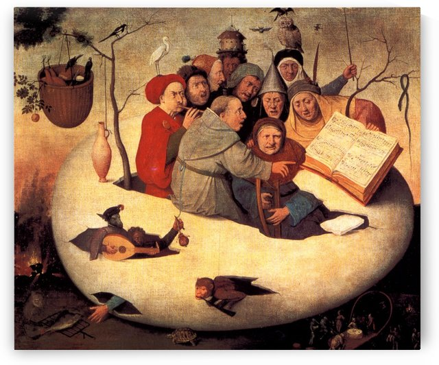 The concert in the egg, 1480 by Hieronymus Bosch
