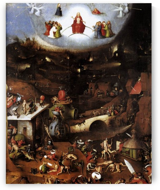 The central Last Judgement by Hieronymus Bosch