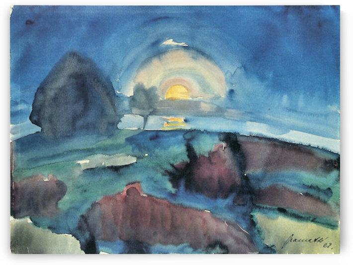Hiddensoe (moon stairway)  by Walter Gramatte by Walter Gramatte