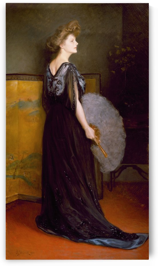 Portrait of Mrs Francis Stanton Blake by Julius LeBlanc Stewart