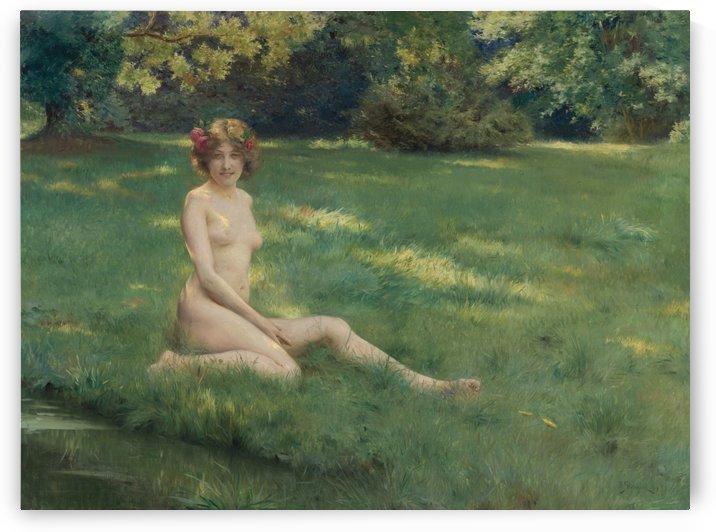 Un nu sur la pelouse by Julius LeBlanc Stewart