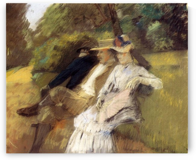 In The Park 1882 by Julius LeBlanc Stewart