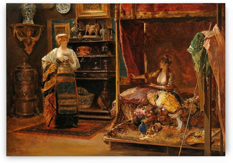 In the studio of the artist by Julius LeBlanc Stewart