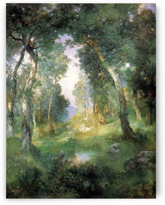 Forest Glade, Santa Barbara by Julius LeBlanc Stewart