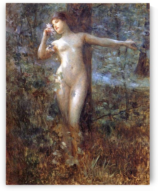 Nude in the forest by Julius LeBlanc Stewart