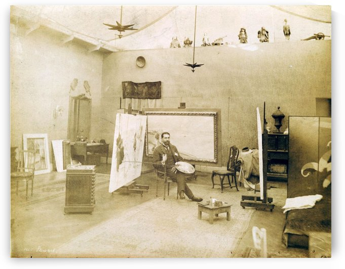 Julius Leblanc Stewart in his studio by Julius LeBlanc Stewart
