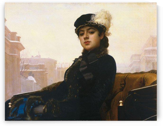 Portrait of an Unknown Woman by Ivan Nikolaevich Kramskoi