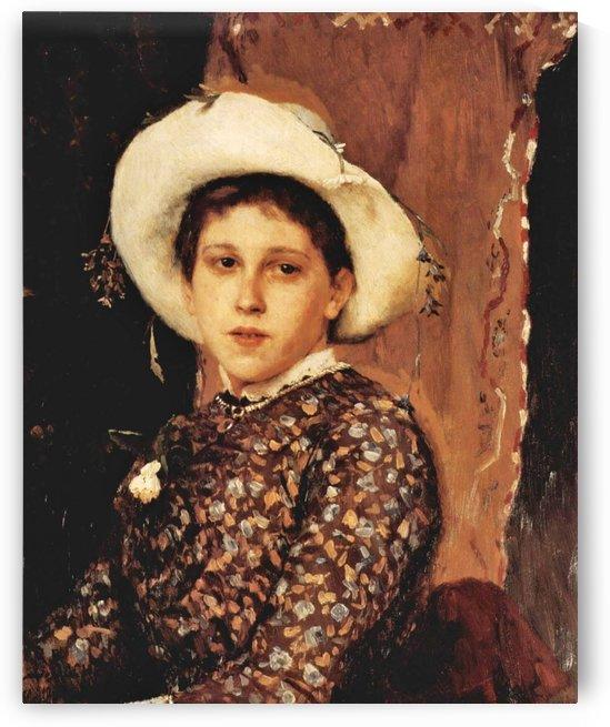 Portrait of a Tatiana Mamontova 1884 by Ivan Nikolaevich Kramskoi