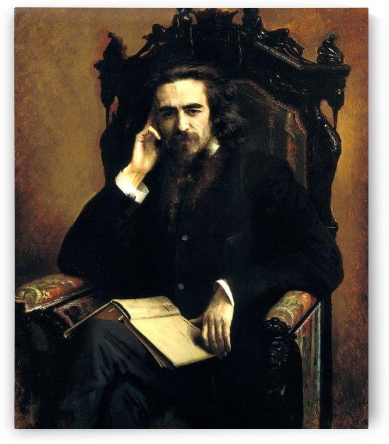 Vladimir Solovyov, 1885 by Ivan Nikolaevich Kramskoi