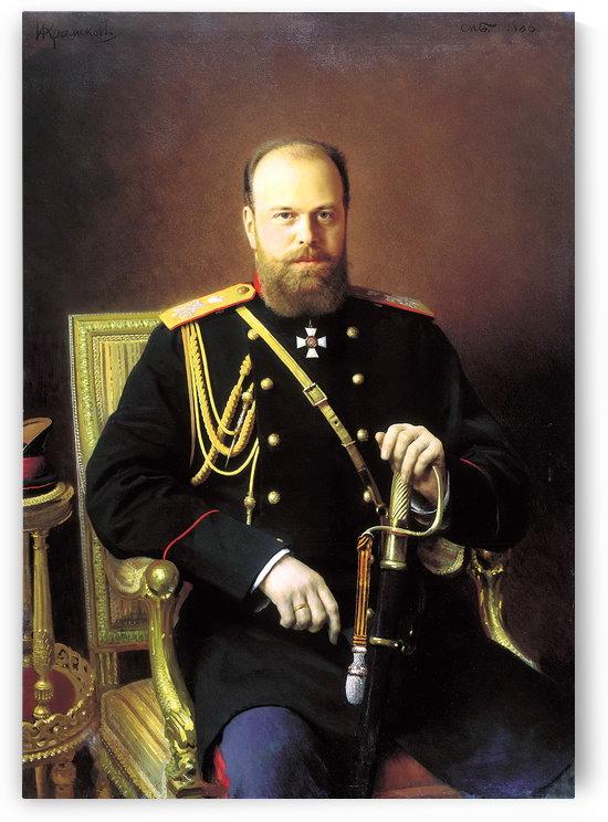 Alexander III, 1886 by Ivan Nikolaevich Kramskoi