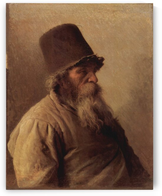 A miller by Ivan Nikolaevich Kramskoi