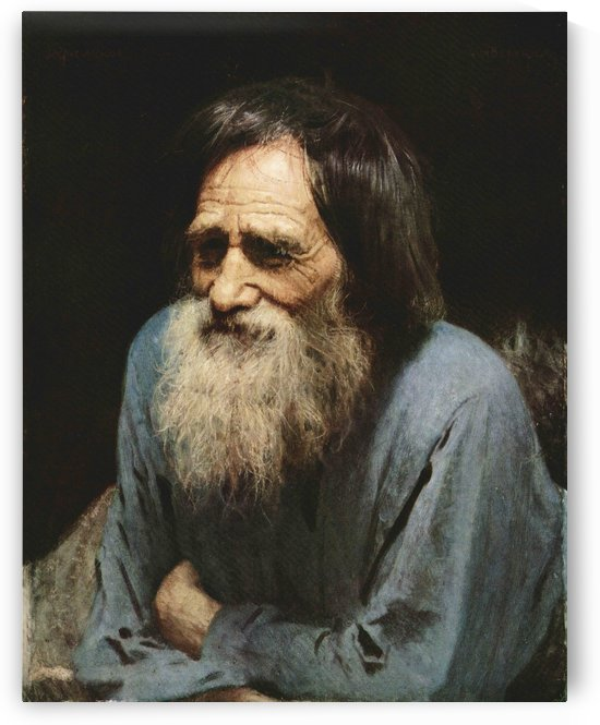 Portrait of a peasant by Ivan Nikolaevich Kramskoi