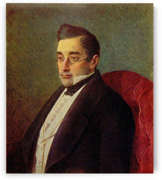 Portrait of Alexandr Griboyedov by Ivan Nikolaevich Kramskoi