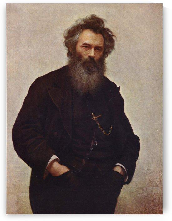 Ivan Shishkin, 1880 by Ivan Nikolaevich Kramskoi