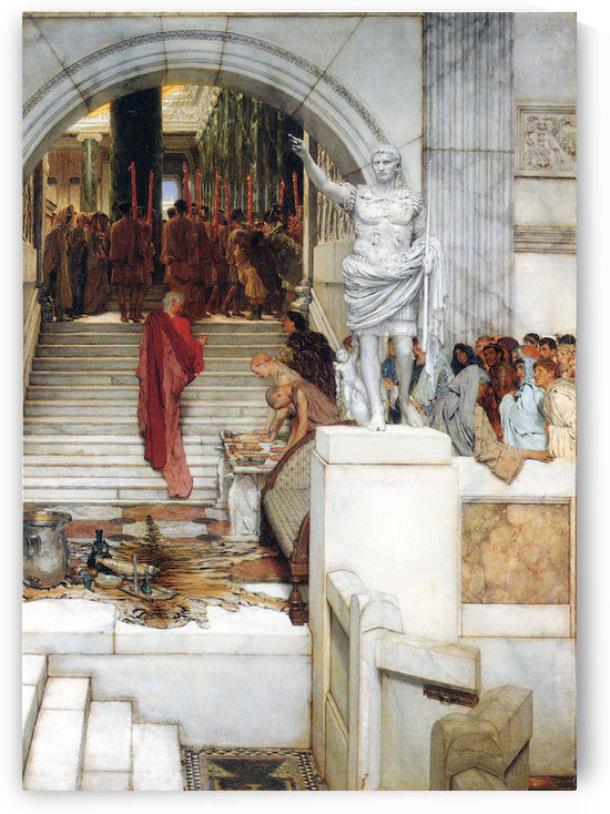 After the Audience by Alma-Tadema by Alma-Tadema