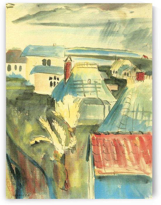 Hiddensoe after the rain by Walter Gramatte by Walter Gramatte