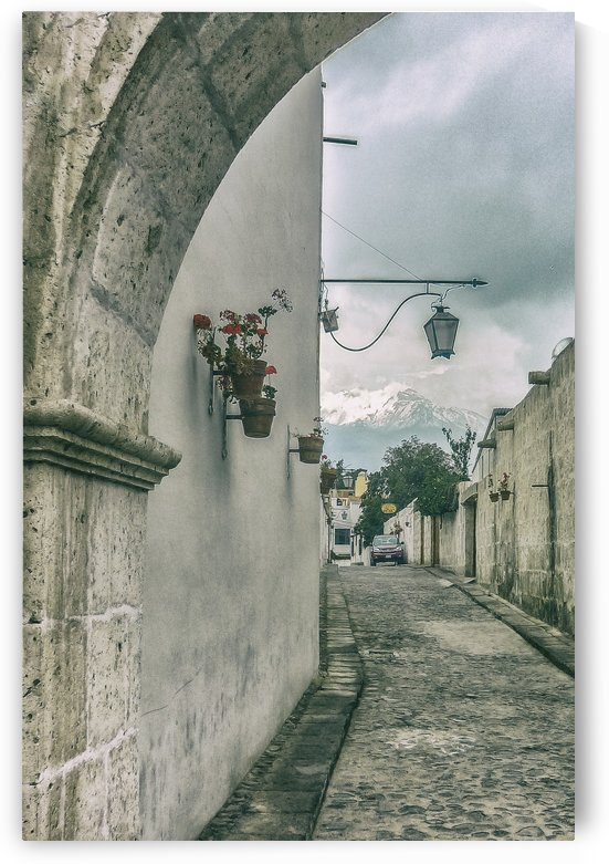 Colonial Street of Arequipa City Peru by Daniel Ferreia Leites Ciccarino