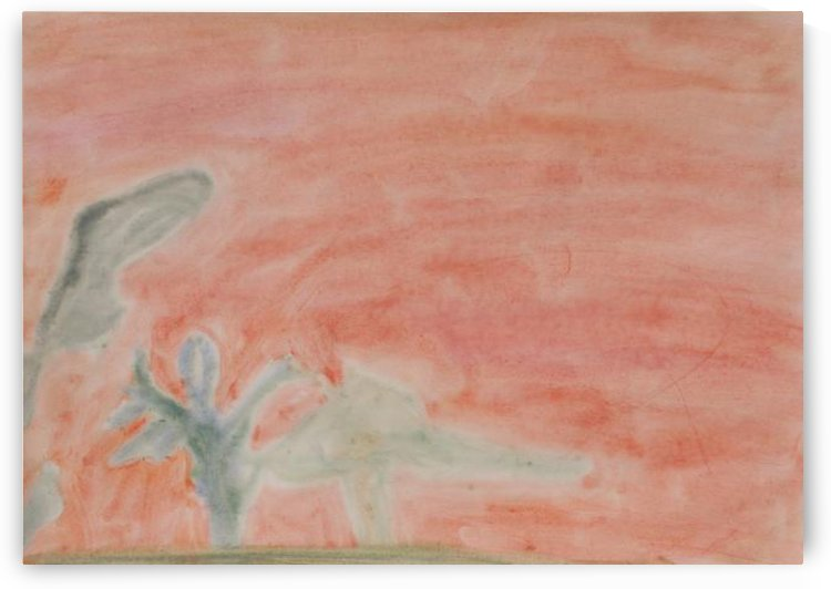 Red landscape by Alice Banciu