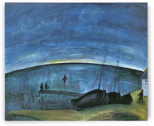 Hiddensoe morning on the sea by Walter Gramatte by Walter Gramatte