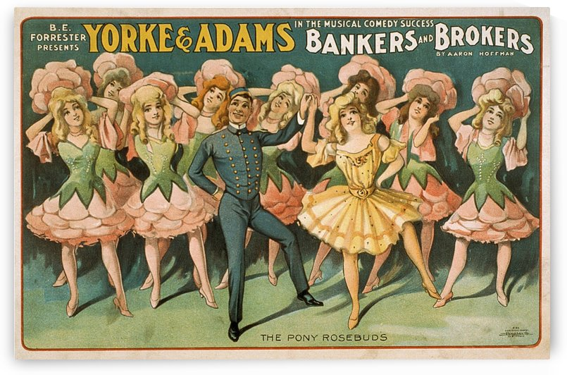 Bankers and Brokers The Pony Rosebuds poster 1906 by VINTAGE POSTER