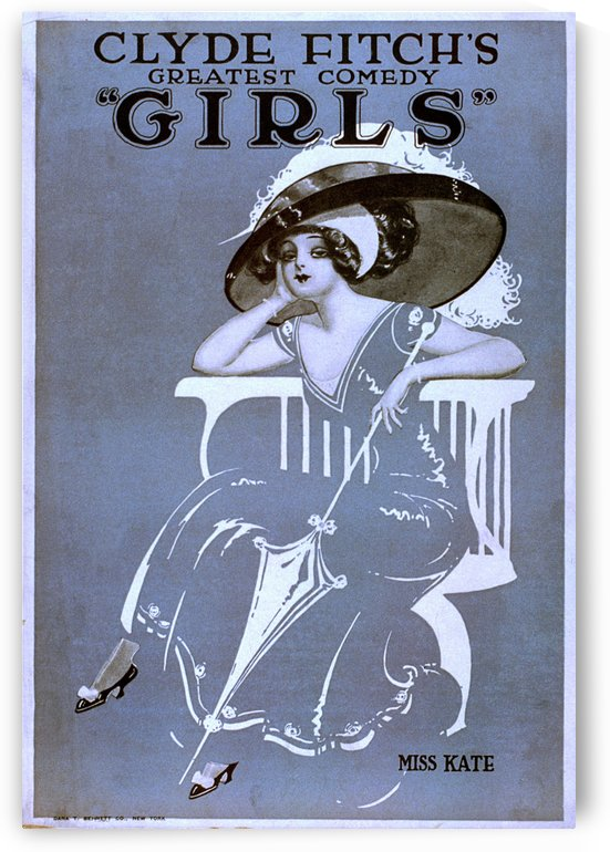 Girls Broadway Show Miss Kate Vintage Poster 1906 by VINTAGE POSTER