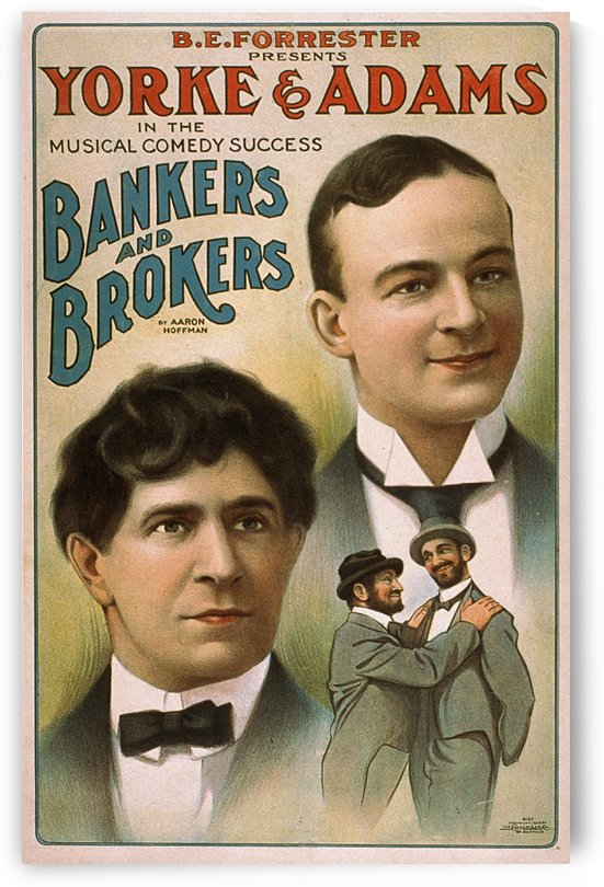Bankers and Brokers The Pony Rosebuds Aaron Hoffman Vintage Theater Poster 1906 by VINTAGE POSTER