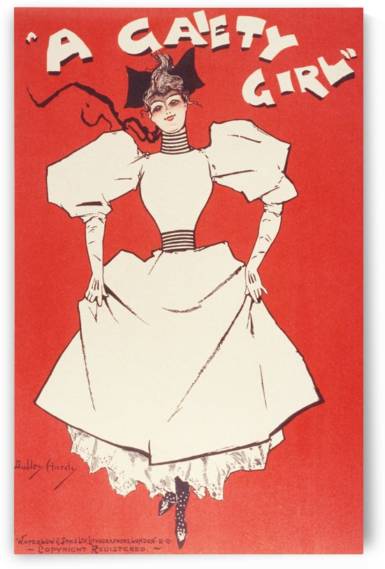 A Gaiety Girl Poster by VINTAGE POSTER