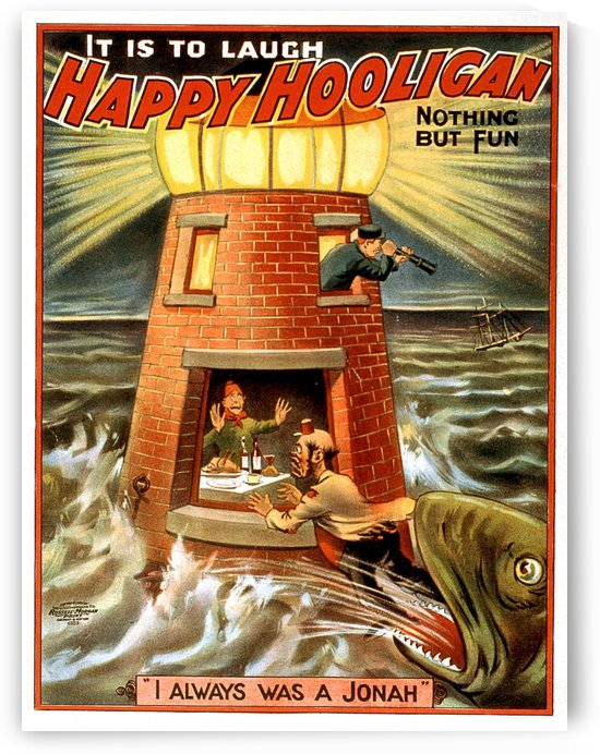 Happy Hooligan I Always Was a Jonah Vintage Poster 1902 by VINTAGE POSTER
