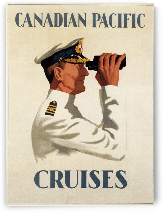 Canadian Pacific Cruises Original Travel Poster by VINTAGE POSTER