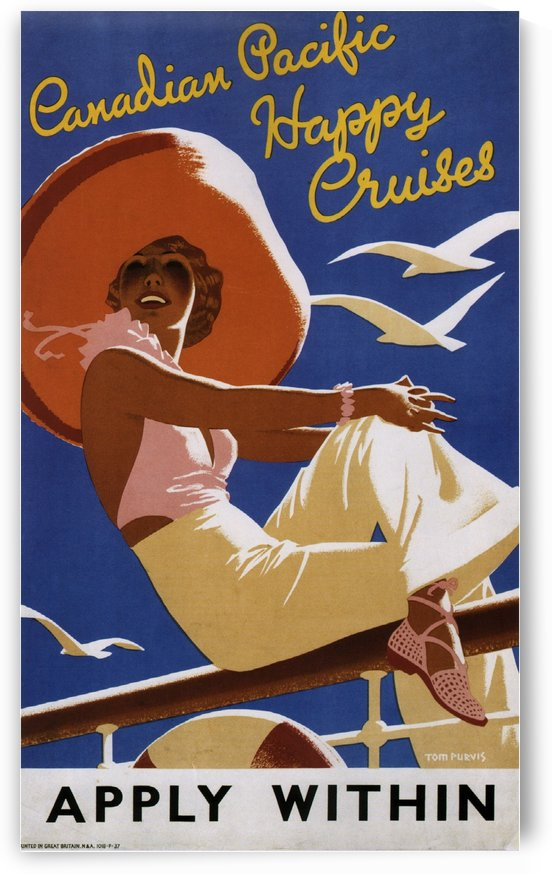 Canadian Happy Cruises Vintage Travel Poster by VINTAGE POSTER