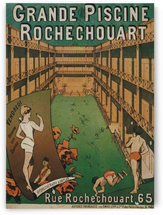 Grande Piscine Rochechouart Emile Levy Cie Paris 1886 by VINTAGE POSTER