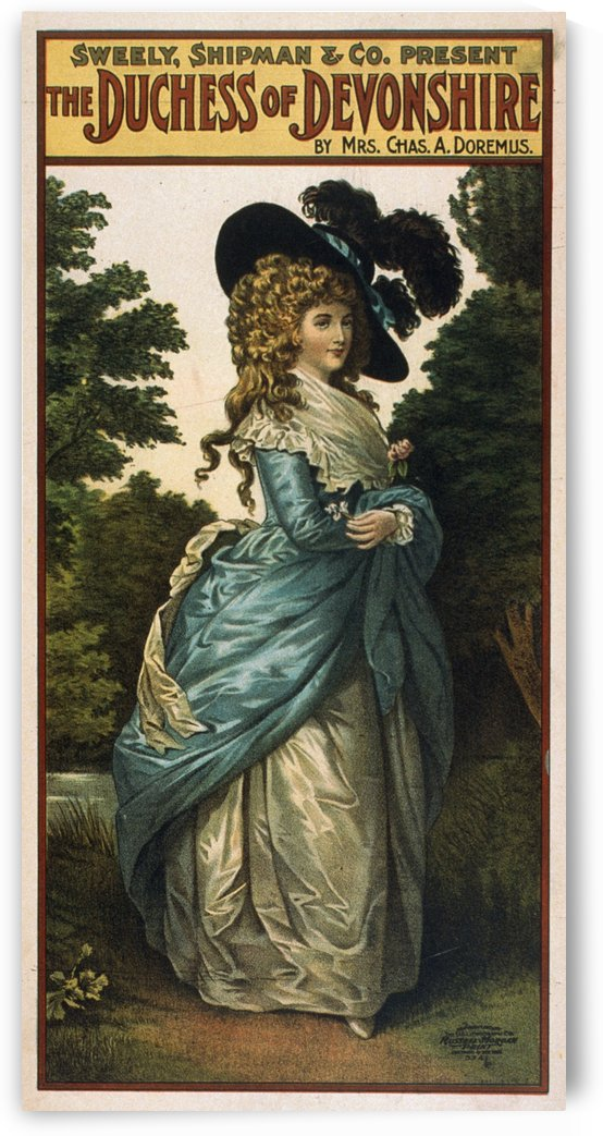 1906 Vintage Theater Poster The Duchess of Devonshire by VINTAGE POSTER