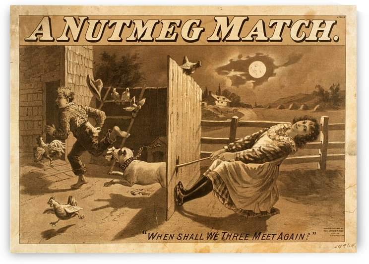 A Nutmeg Match When Shall We Three Meet Again Vintage Theater Poster 1892 by VINTAGE POSTER