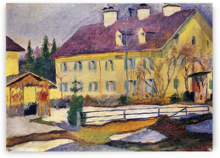 Hospital in Tegern Sea by August Macke by August Macke