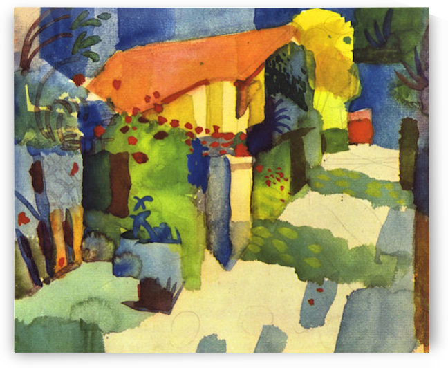 House in the Garden by August Macke by August Macke