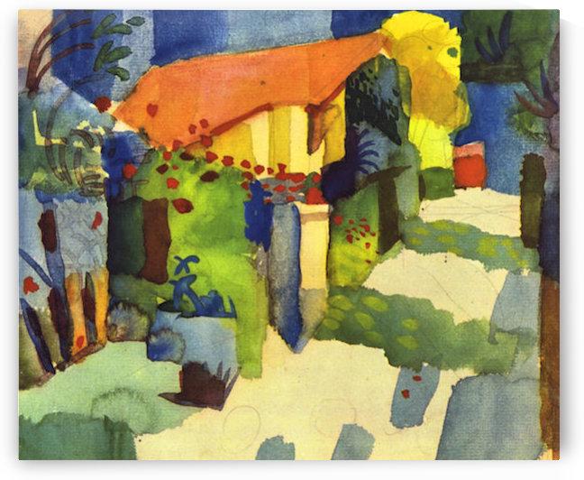 House in the Garden by August Macke by August Macke