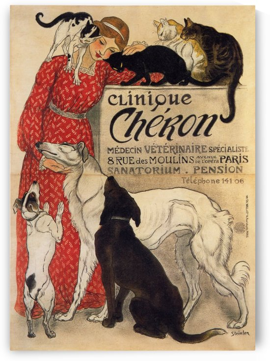 Steinlen, Clinique Cheron, 1905 by VINTAGE POSTER