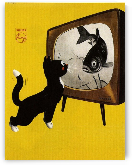 Dutch poster for Philips Tv, 1951 by VINTAGE POSTER